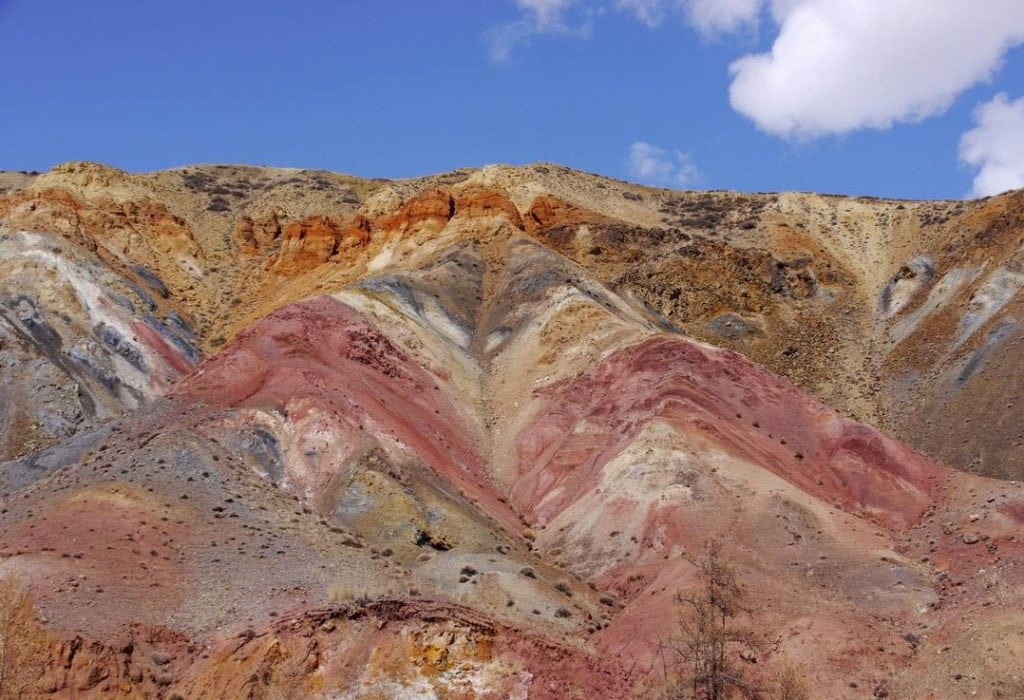Coloured mountains of Kyzyl-Chin