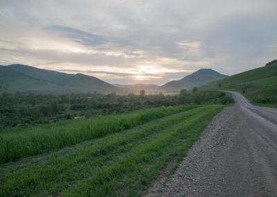 Weg in Altai krai
