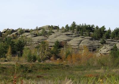 Granieten rotsen in Altai krai