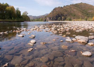 Vers water in de Charysh rivier