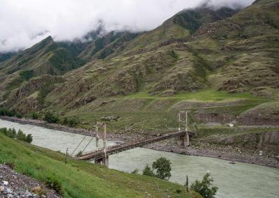 Inya brug over de Katun rivier