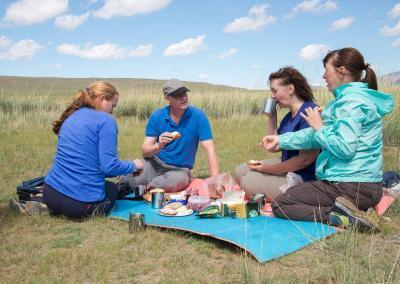 Lunch tijdens onze reis