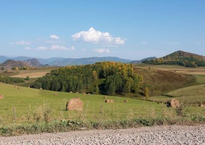 Prachtig uitzicht in de Altai bergen