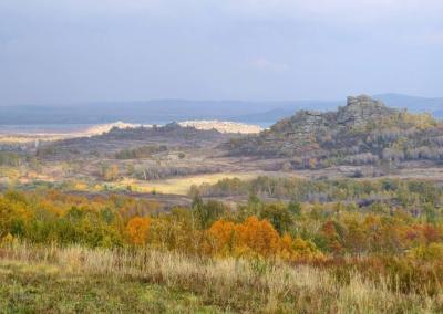 Uitzicht vanaf de weg naar Zmeinogorsk