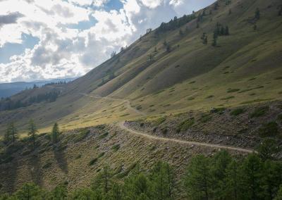 Weg naar de Samakha steppe