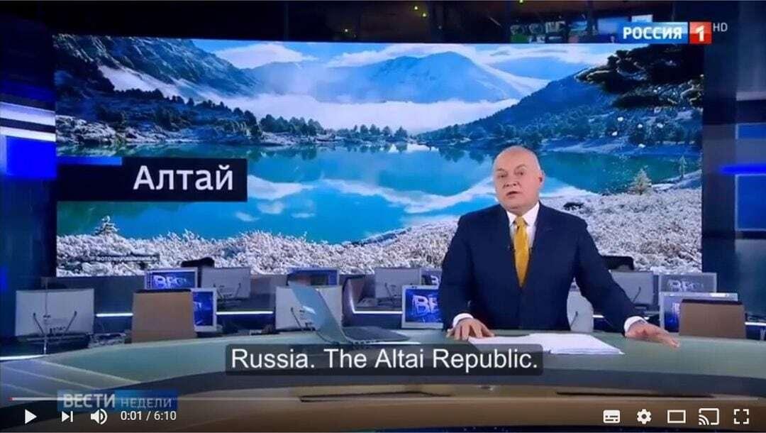 Altai republiek op de Russische TV