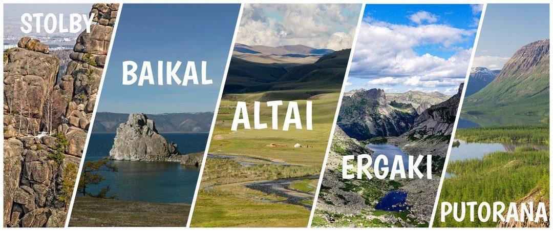 Top-5 plaatsen in Siberië voor uw bijzondere natuurreizen