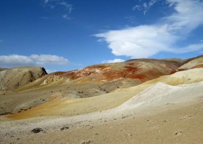 Coloured mountains in Altai